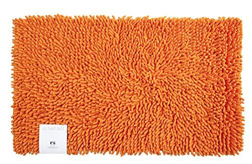 Creative Bath Products All That Jazz Bath Rug Orange Creative