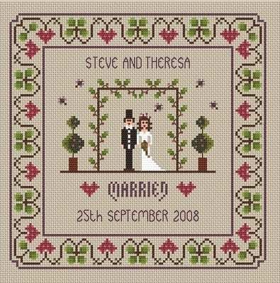 little dove designs wedding sampler cross stitch kit at busy lizzie crafts