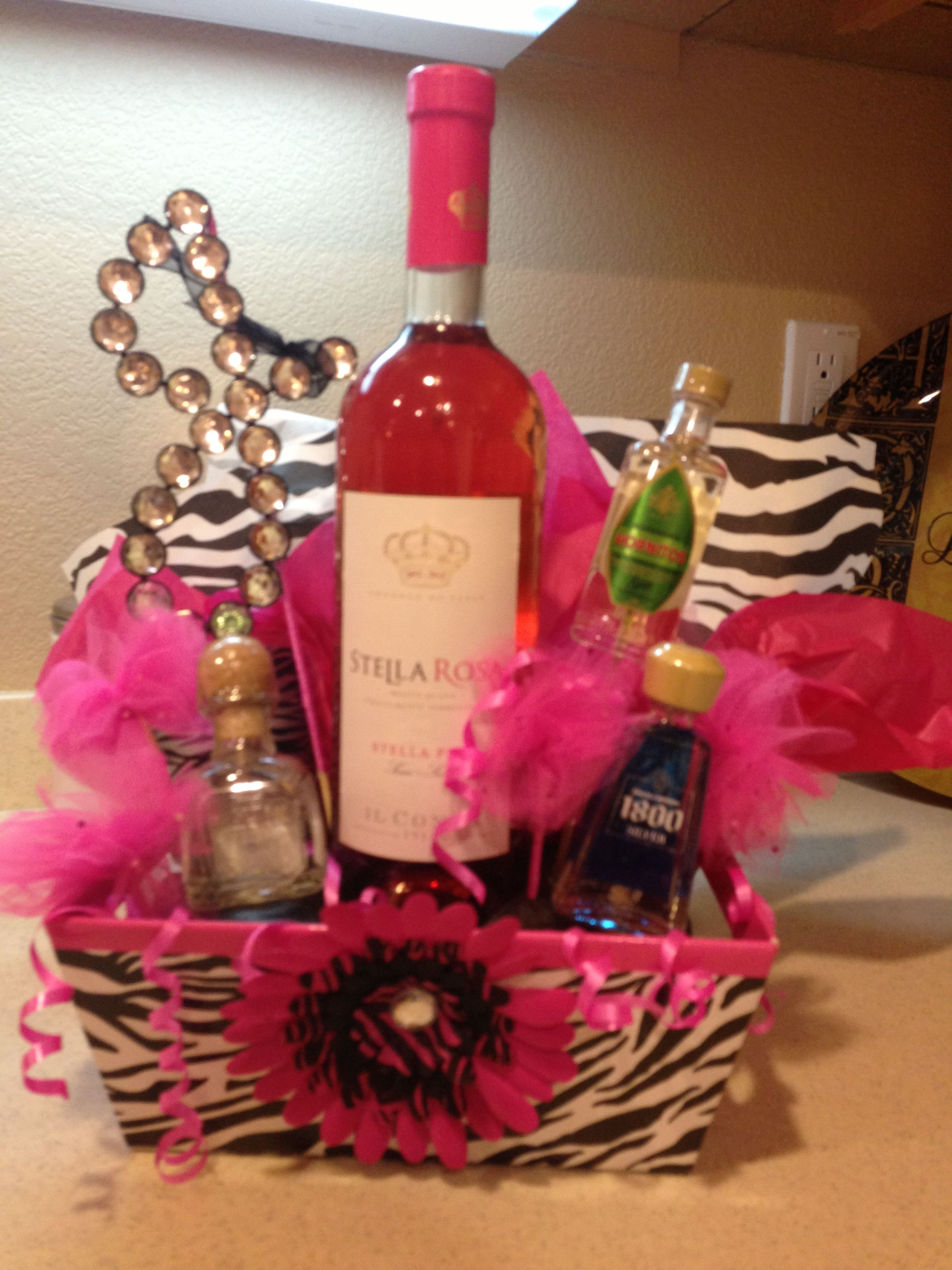 Stella Rosa And Tequila Birthday Basket Birthday Basket Wine Gift Baskets Mothers Day Baskets