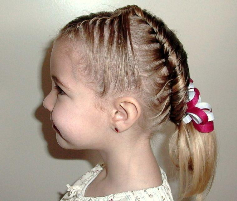 peinados de niñas con trenzas modernas Belleza Pinterest