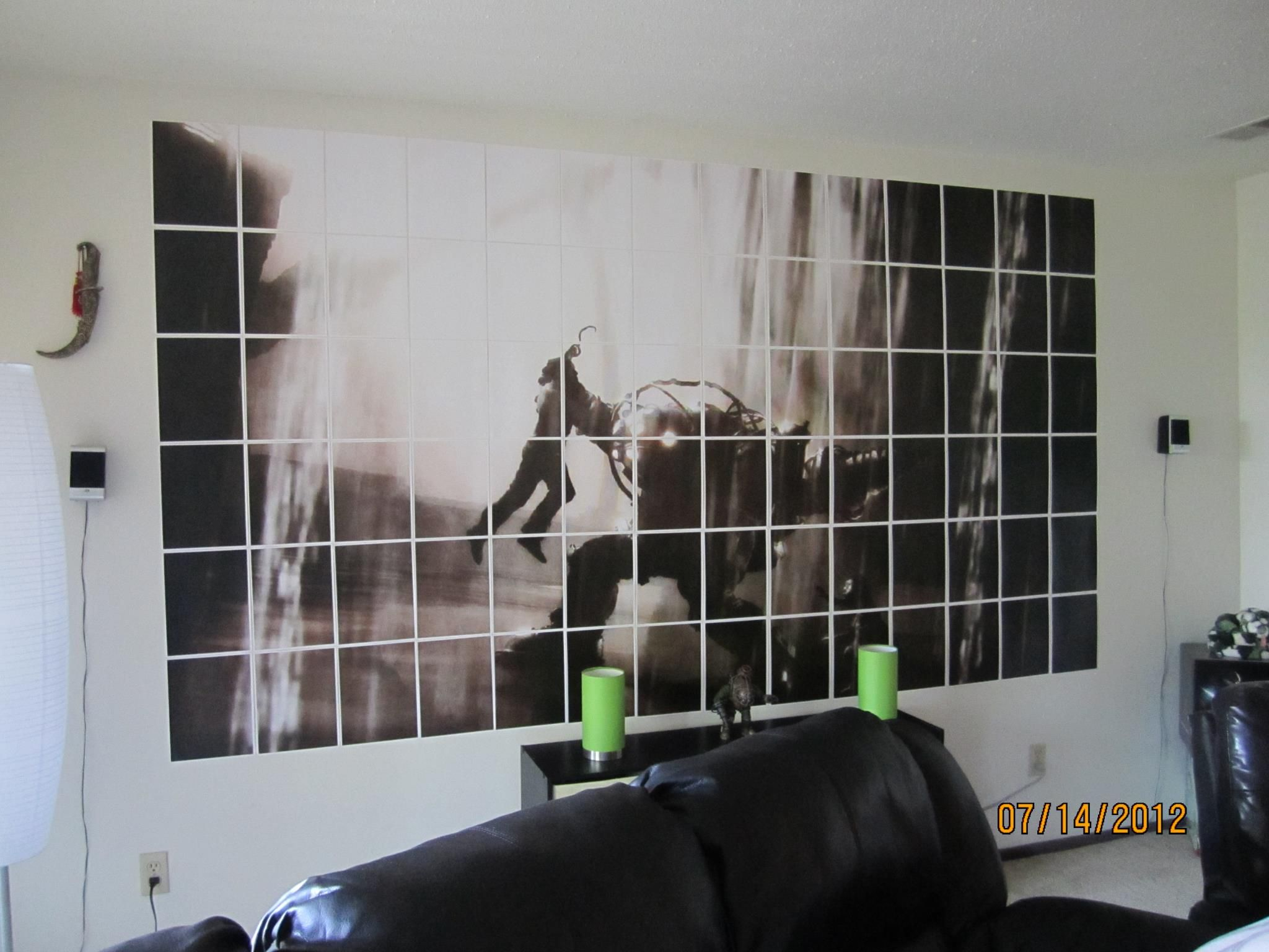 BioShock Big Daddy / Splicer / Little Sister Wall Art: They Said We  Couldnu0027t Paint Our Apartment Walls.so I Opted To Create Some Wall Art To Go  With Our ...
