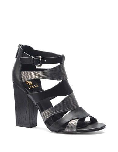 8761b602c6c8 Isola Carlota High-Heel Leather Sandals Women s Grey 8.5