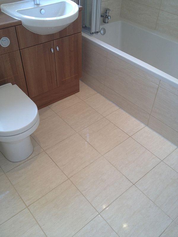 Ceramic Floor Tiling in a Full Bathroom Installation by UK Bathroom