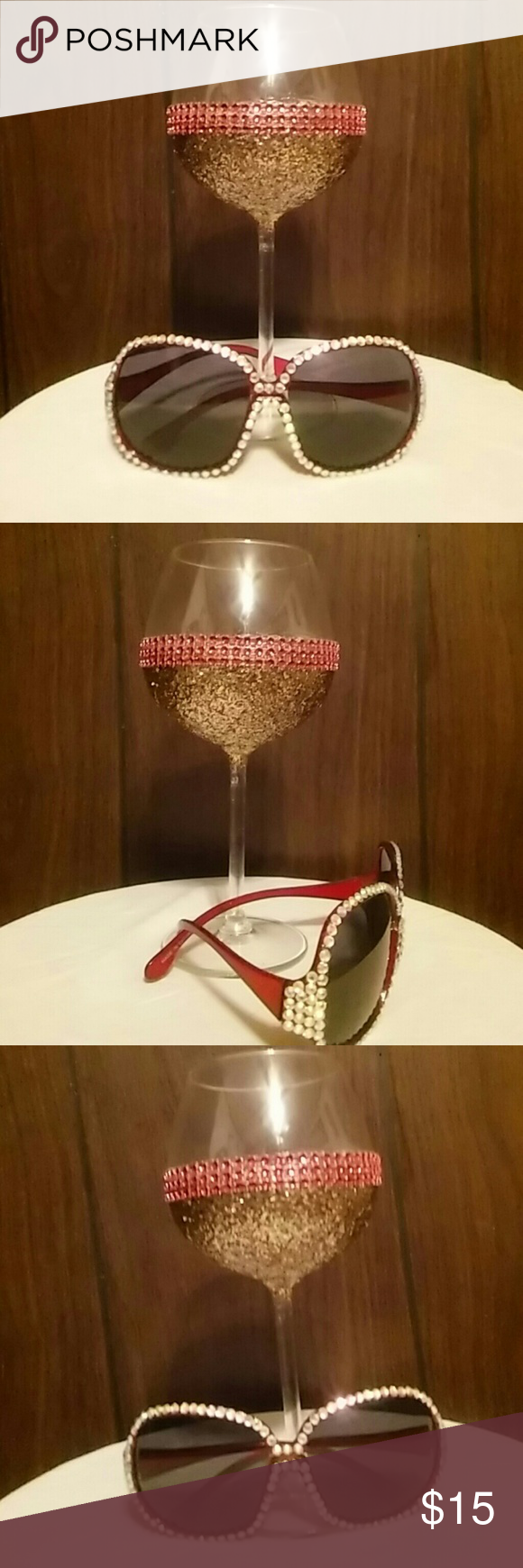 Sunglasses Swarovski crystal inspired sunglasses Accessories Glasses