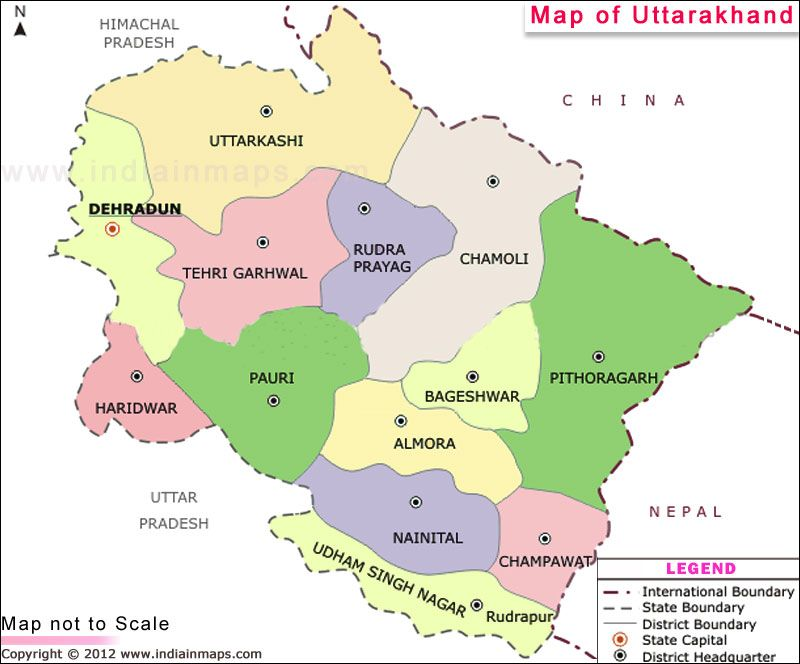 Uttarakhand Map | state maps