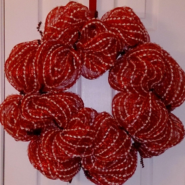 Basic Deco Mesh Wreath, DIY Wreath, Snowball Mesh Wreath ...