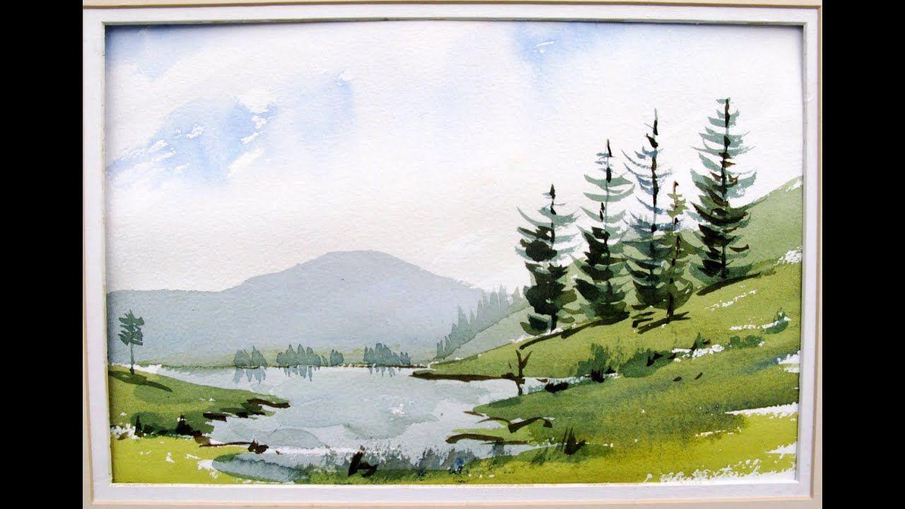 Your First Landscape Watercolor Landscape Tutorial Landscape