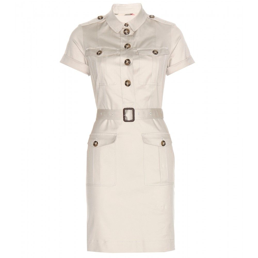 Burberry Brit - Cotton shirt dress - Stand to attention in Burberry Brit's military-chic cotton dress. Destined to be a Brit-girl favourite, this belted style has a barely-there shade that will go with everything, contrasted by tortoiseshell buttons. seen @ www.mytheresa.com