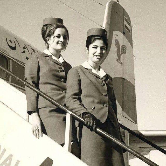Iran Air 1960s Photo c/o airfleets base @iranian_airfleets_base