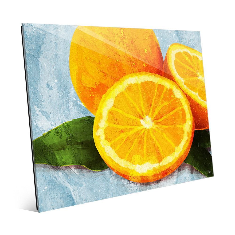 Horizon \'Painted Oranges on \' Glass Wall Art Print | Products ...