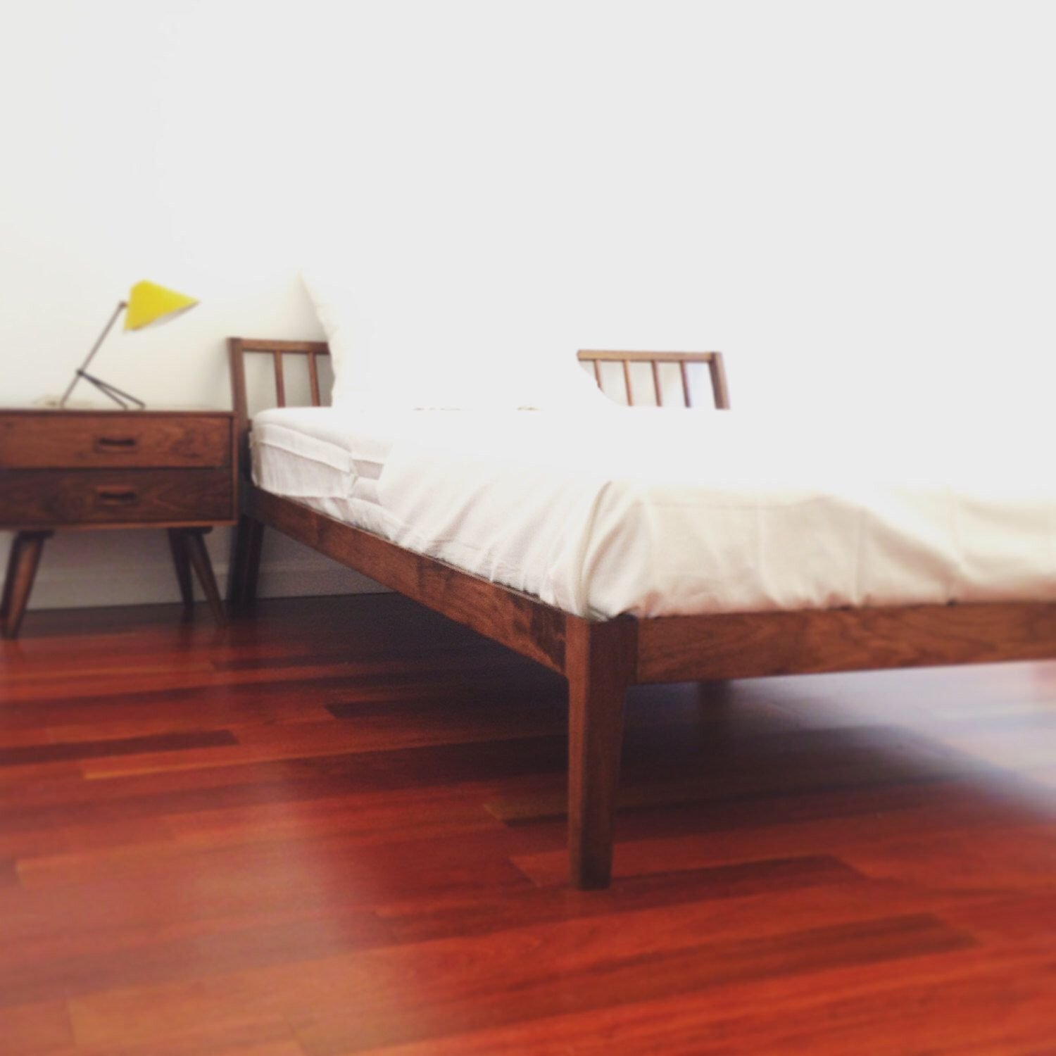 Platform Bed Frame - FREE SHIPPING - Solid Walnut - Danish Mid ...