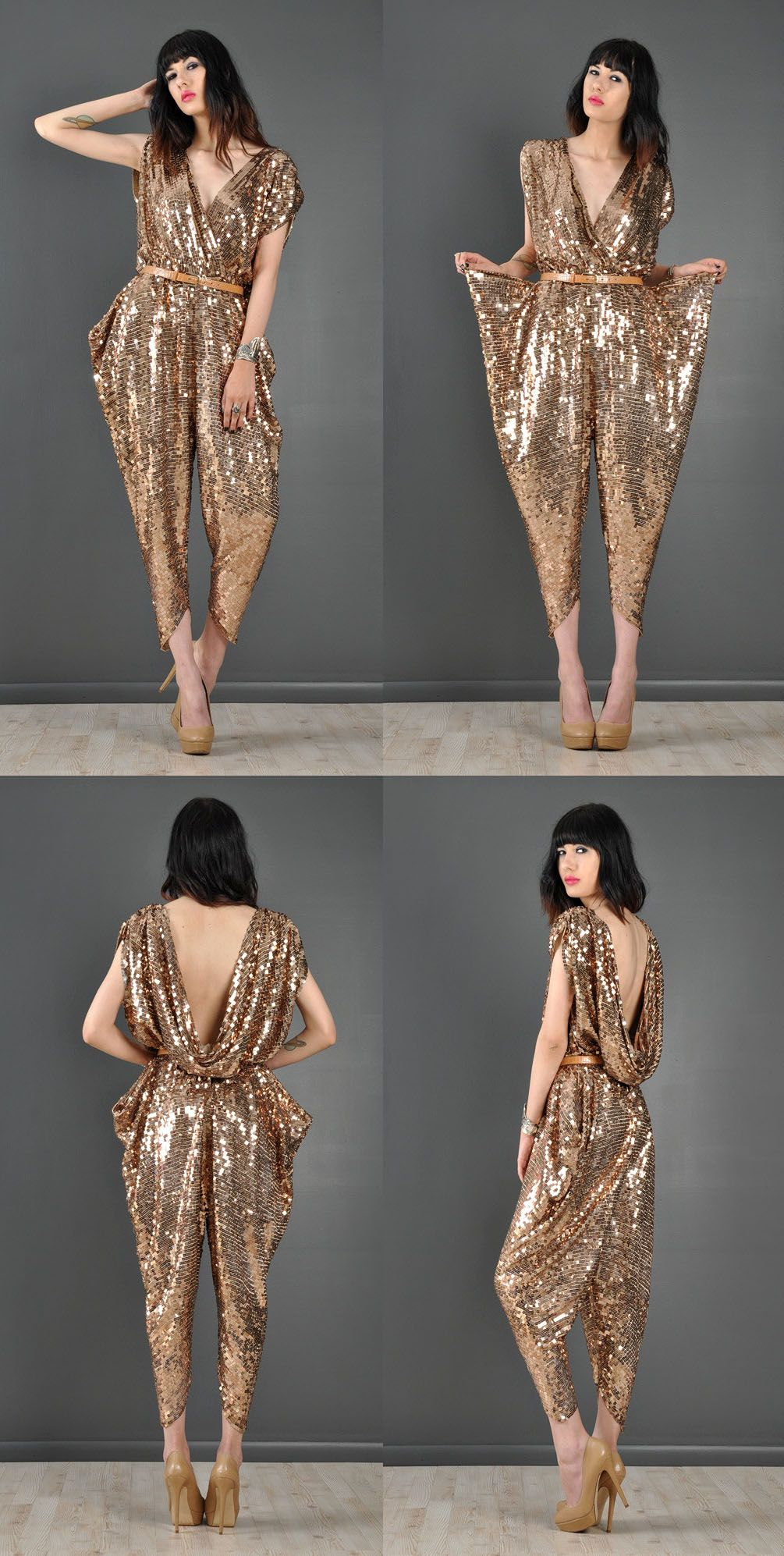 91b0e5f05b 1970s early 80s vintage sequin encrusted jumpsuit https   bellanblue.com