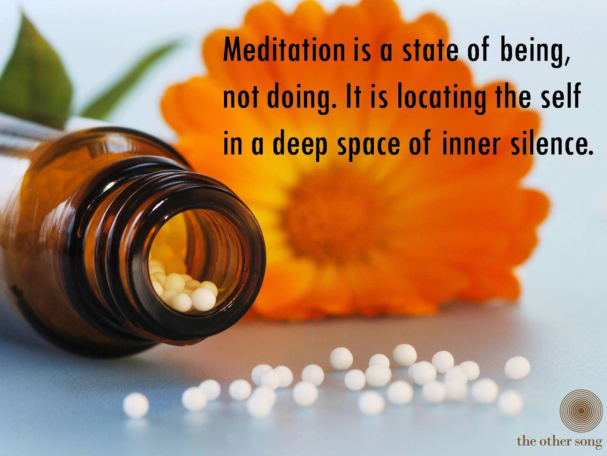 Meditation is a state of being, not doing. It is locating the self in a deep space of inner silence.