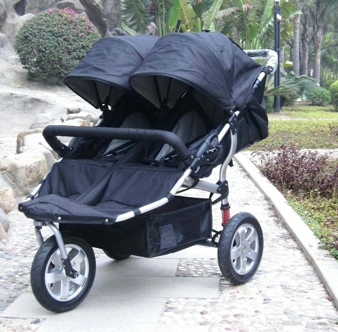 High End Kinderwagen Drei Großen Rädern Luxus Doppel