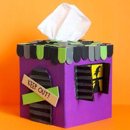 DIY Halloween : DIY Haunted House Tissue Box Cover