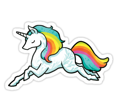 Rainbow Unicorns Sticker By Michelledraws With Images