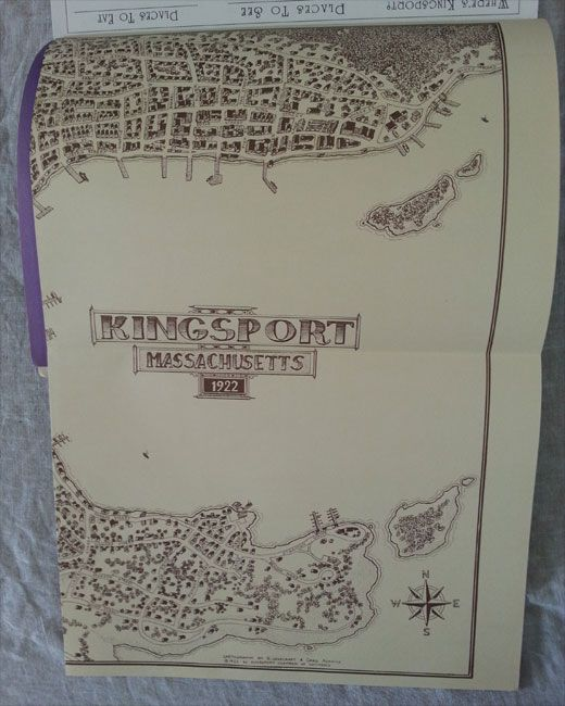 The map of Kingsport from the Call of Cthulhu role playing game