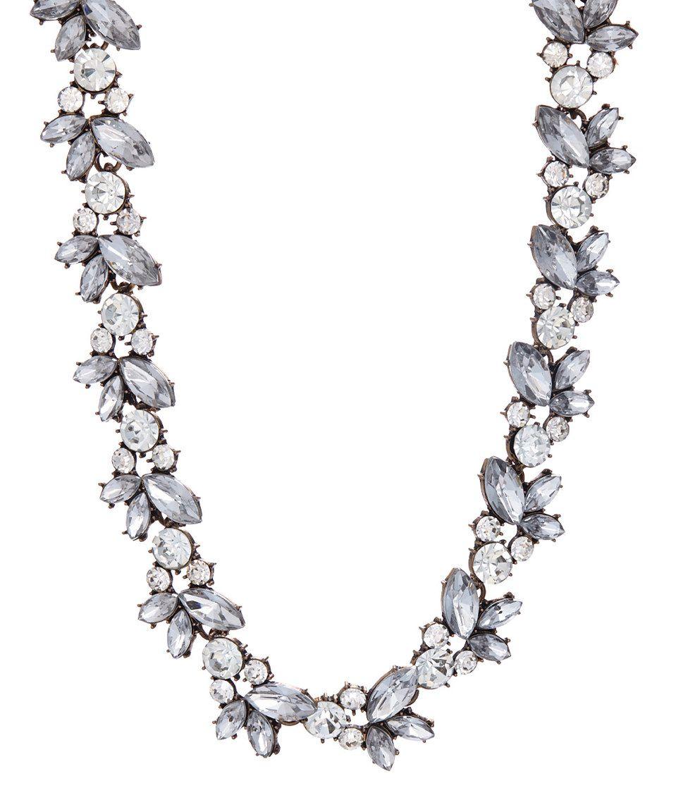 Twinkle Specks Crystal & Gold Floral Wreath Necklace by Twinkle Specks #zulily #zulilyfinds