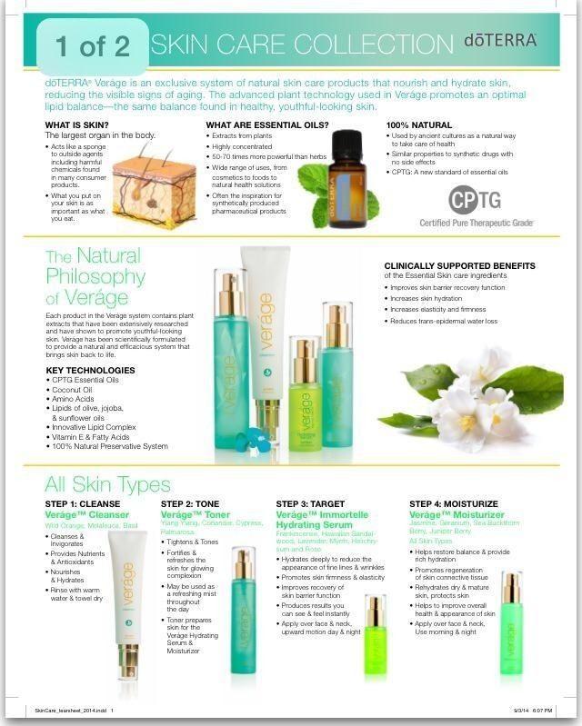 Natural Skin Care Doterra Verage Skin Care Collection Natural Anti Aging Skin Care Skin Care Secrets
