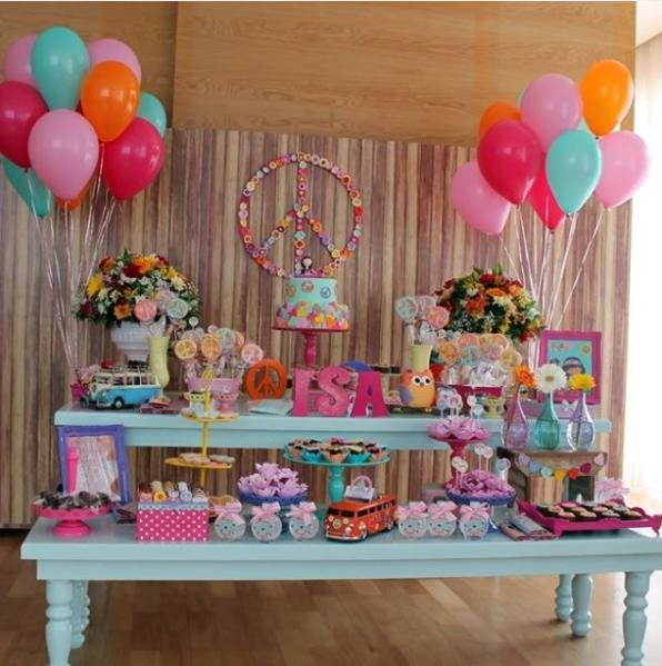 Lindas ideas para una fiesta de adolescentes de paz y amor - Decoracion fiesta de cumpleanos infantil ...