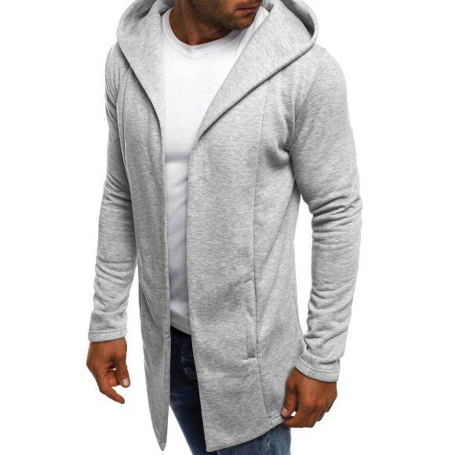 Zogaa Mens Hooded Sweatshirt Men S Solid Long Cardigan Hoodies Streetwear Men Casual Autumn Slim Fit Jacket Hooded Sweatshirt Men Slim Fit Jackets Hoodies Men [ 930 x 930 Pixel ]
