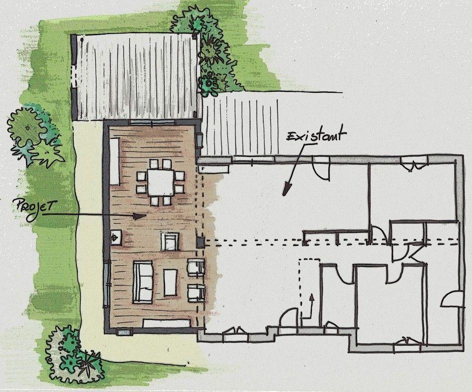 Projet du0027une extension pour une maison existante Extension de