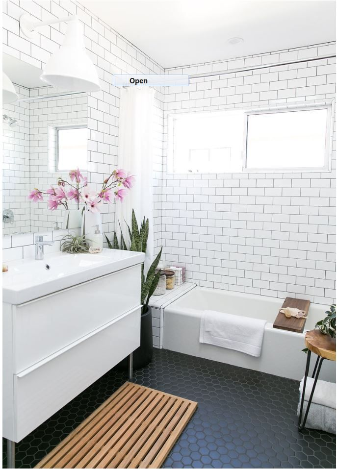 Hexagon Bathroom Floor Tile | Centsational Girl More
