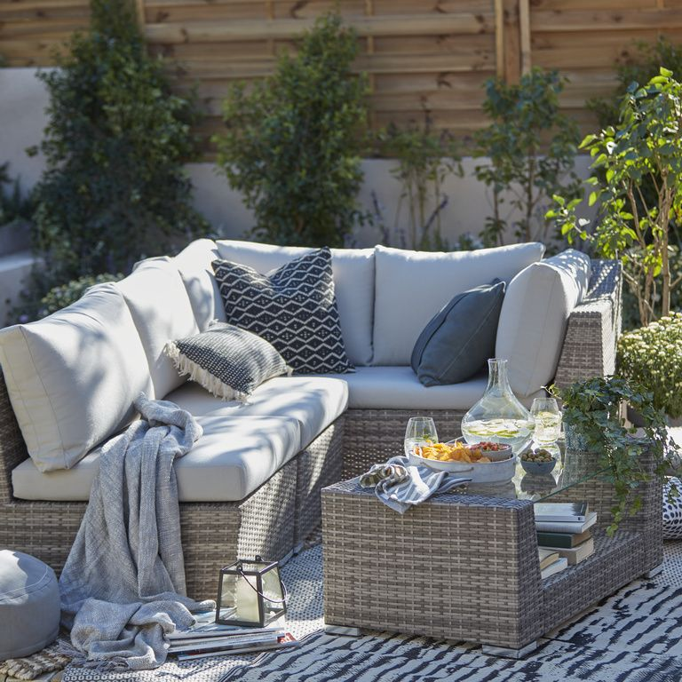 If You Love A Corner Sofa But Feel You Don T Have The Space For One Think Again Our Maeva Outdoor Furniture Small Outdoor Spaces Teak Outdoor Furniture Patio