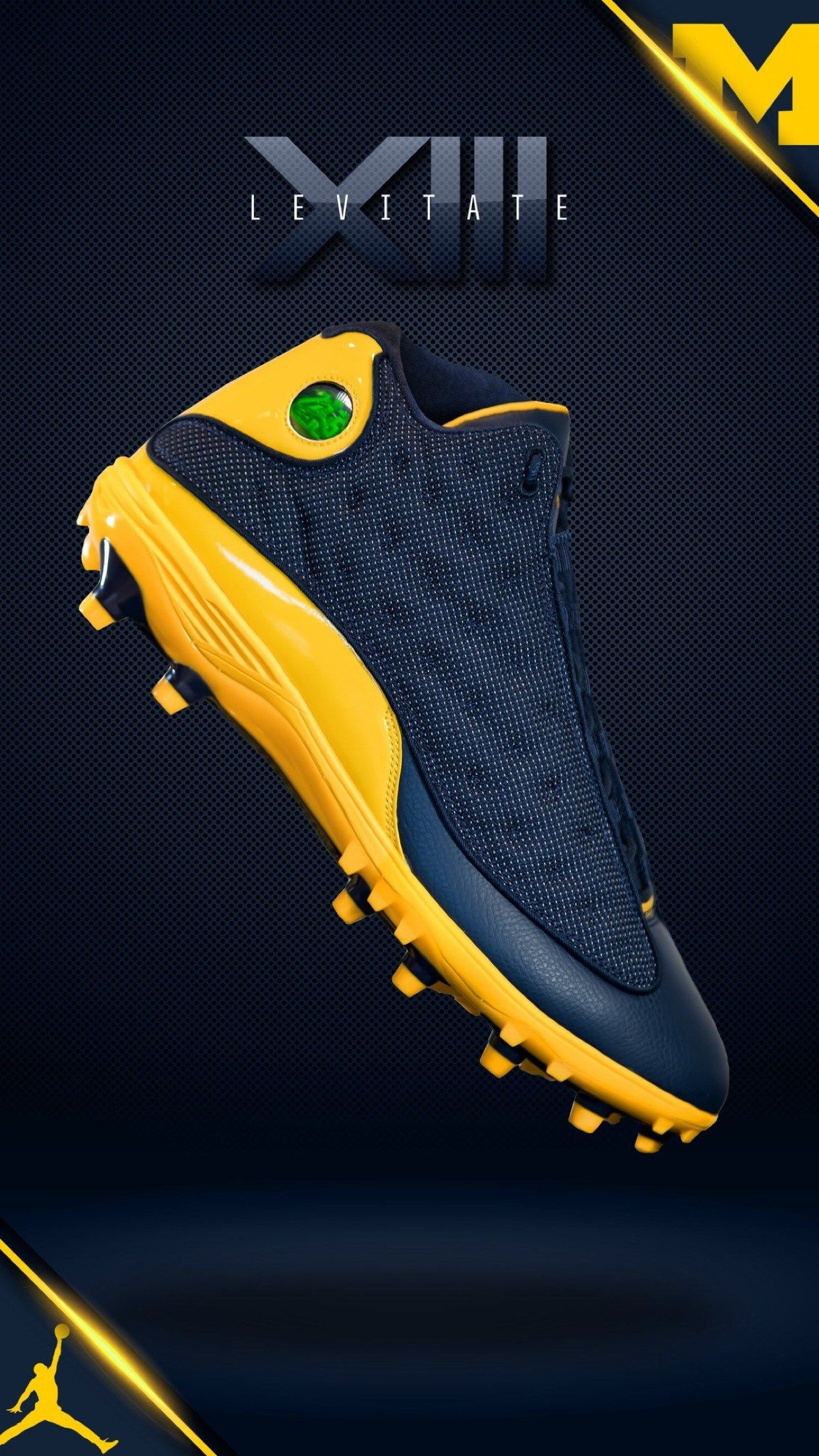 Michigan X Nike Air Jordan Xiii Cleat Jordan Football Cleats Jordan Cleats Air Jordans