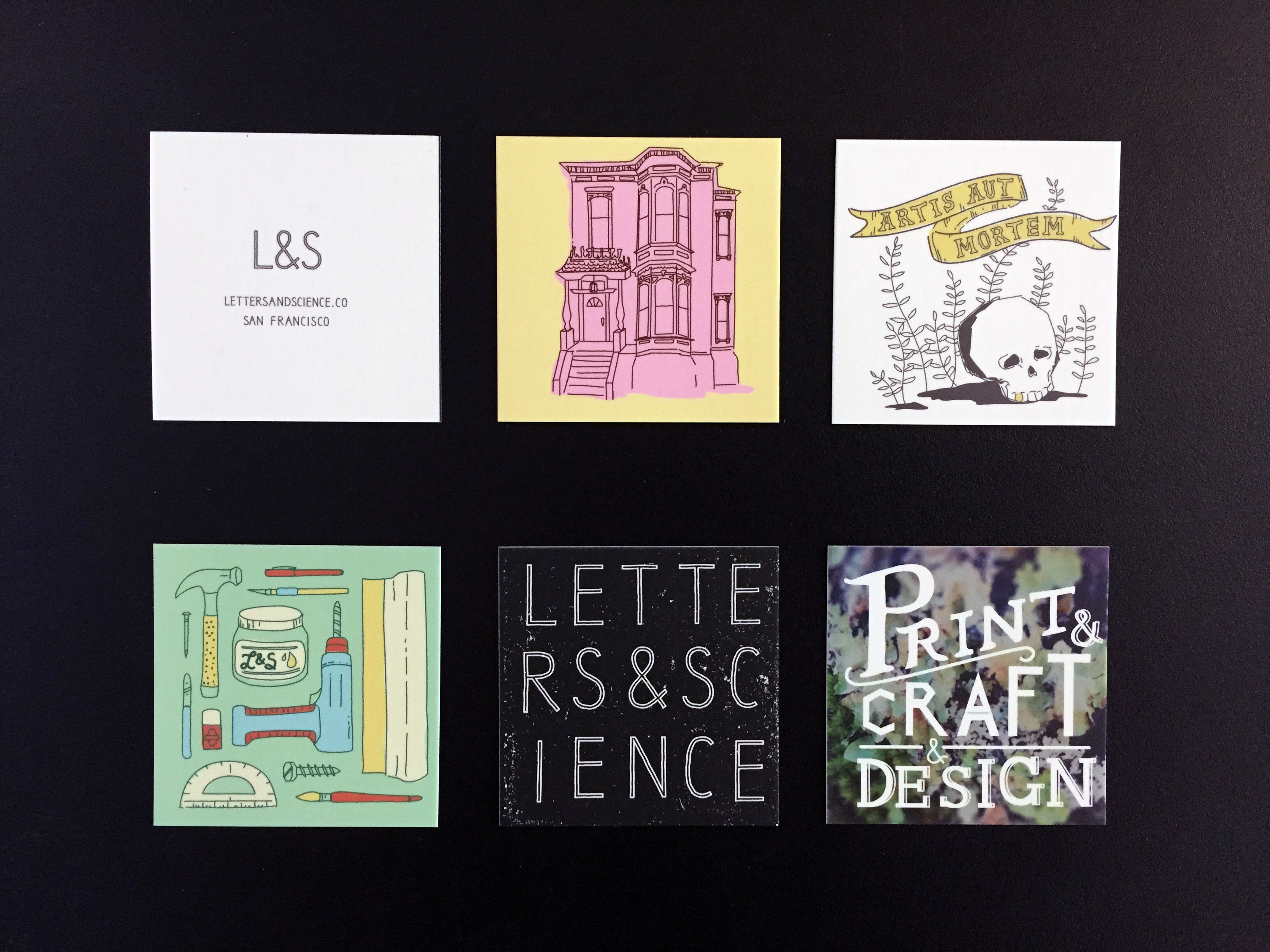 Letters and Science business cards printed by Moo Business cards ...