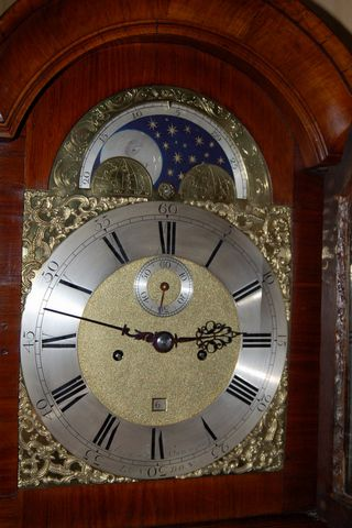Alexander Cummings Of London Moon Phase Walnut Grandfather Clock
