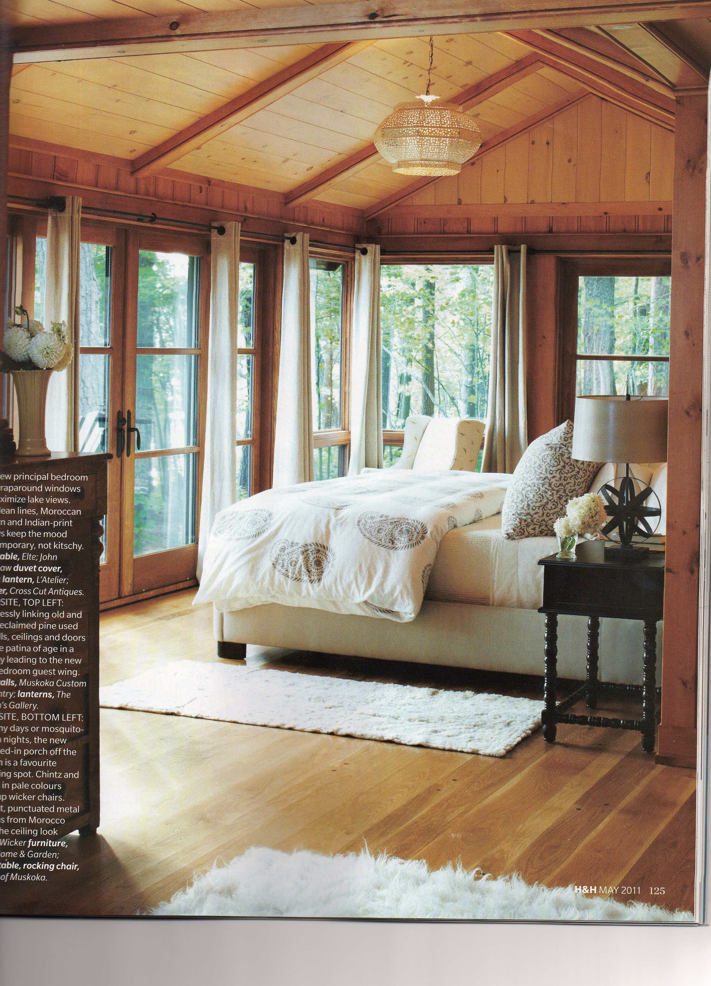 my kinda room with a view! Home, Lodge bedroom, Home bedroom