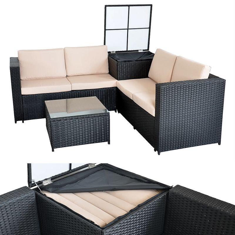 XXL meubles en osier jardin canapé salon, lot de jardin ...