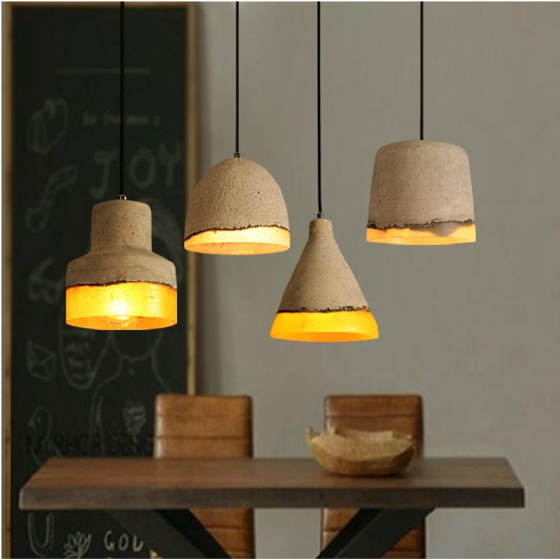 Lamp New Fashion, Creative Ancient Arty Cement Resin Ceiling Pendant Lamp  Light Shade, For Home Cafe Bars Office Decor ,