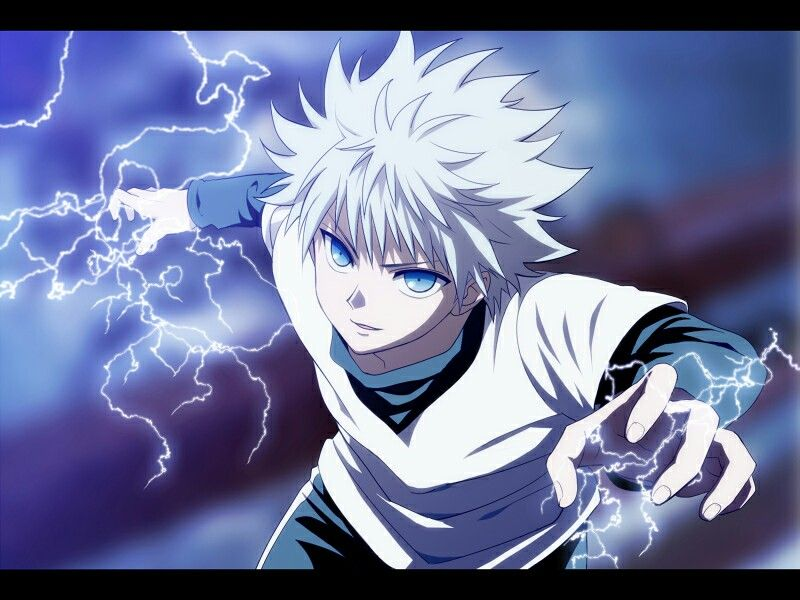 White Hair Character 2 Killua Zoldyck Hunter Anime Anime Killua