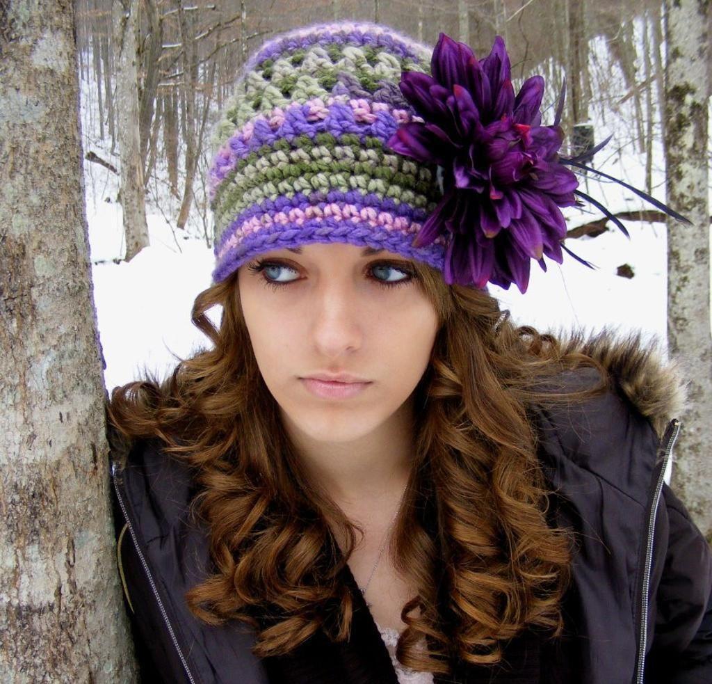 Purple Flapper Hat Crochet Pattern | Free pattern, Yarns and Africans