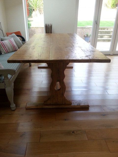 Rustic Reclaimed Timber Dining Table 6ft X 3ft Approx Timber Dining Table Dining Table Reclaimed Timber