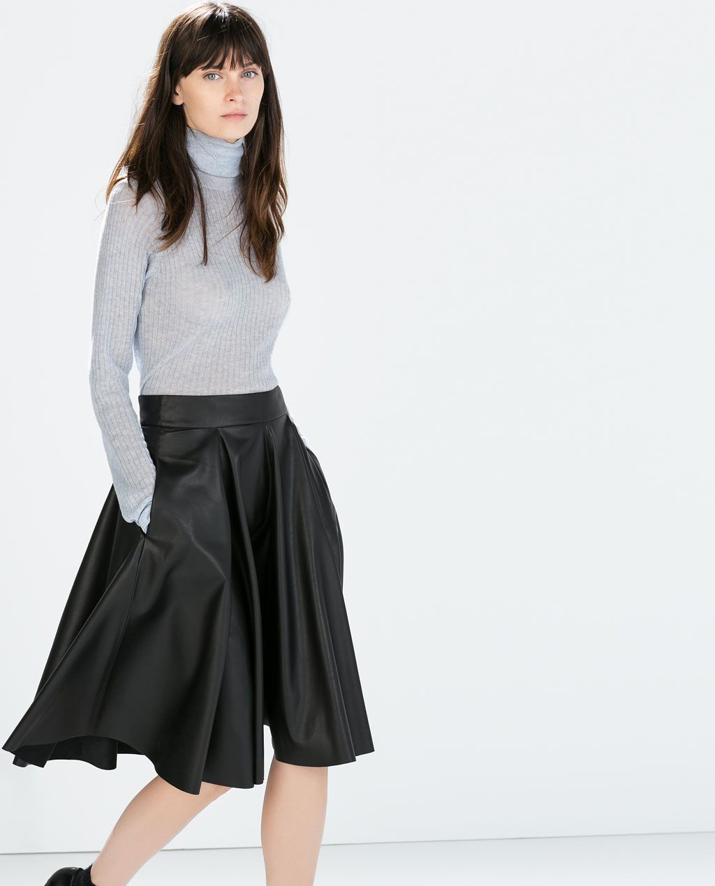 70001102631507 Image 3 of WRAP SKIRT from Zara | Minimalism never looked so good ...