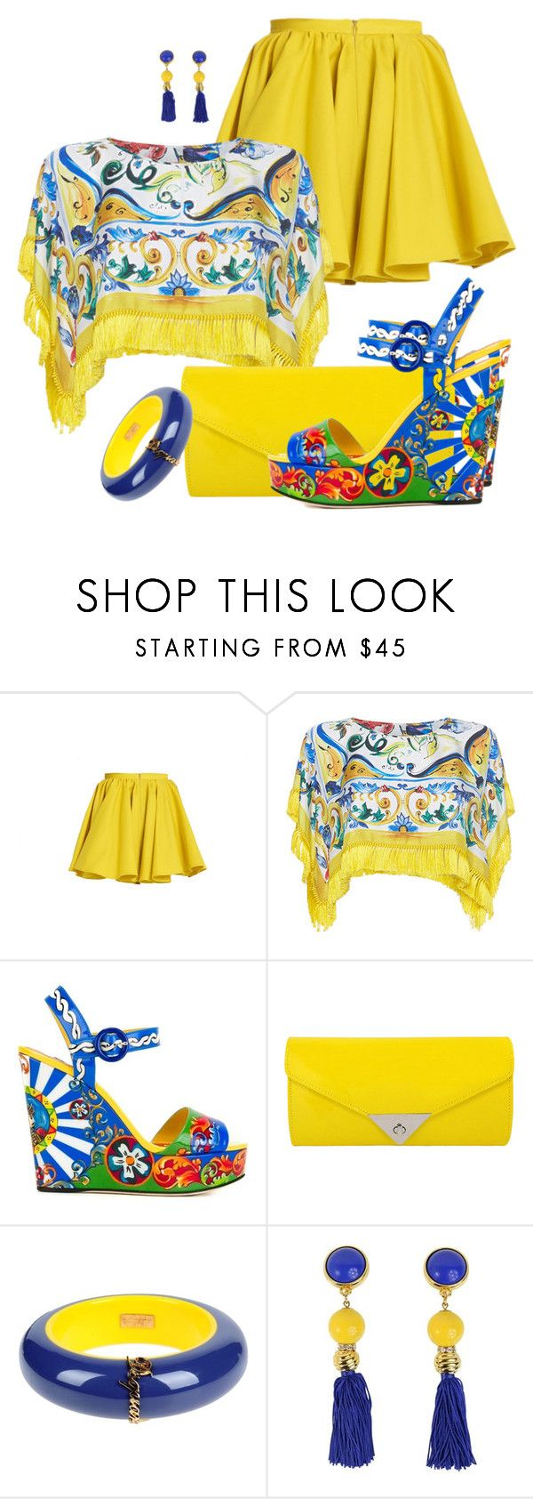 """SUMMER 2016 #19 by DaNewMeh"" by thchosn ❤ liked on Polyvore featuring Merci Me London, Dolce&Gabbana, JNB, Dsquared2 and ESCADA"