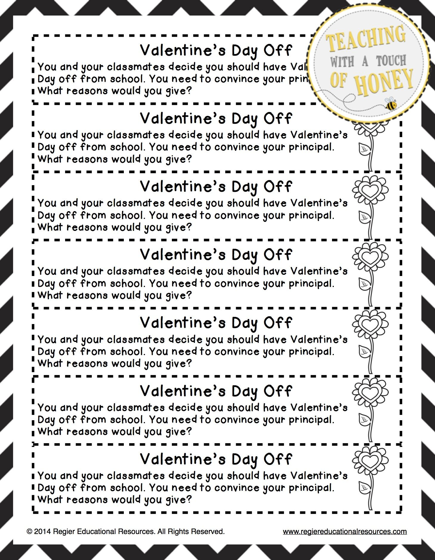 Pin On Teaching Valentine day writing activities for
