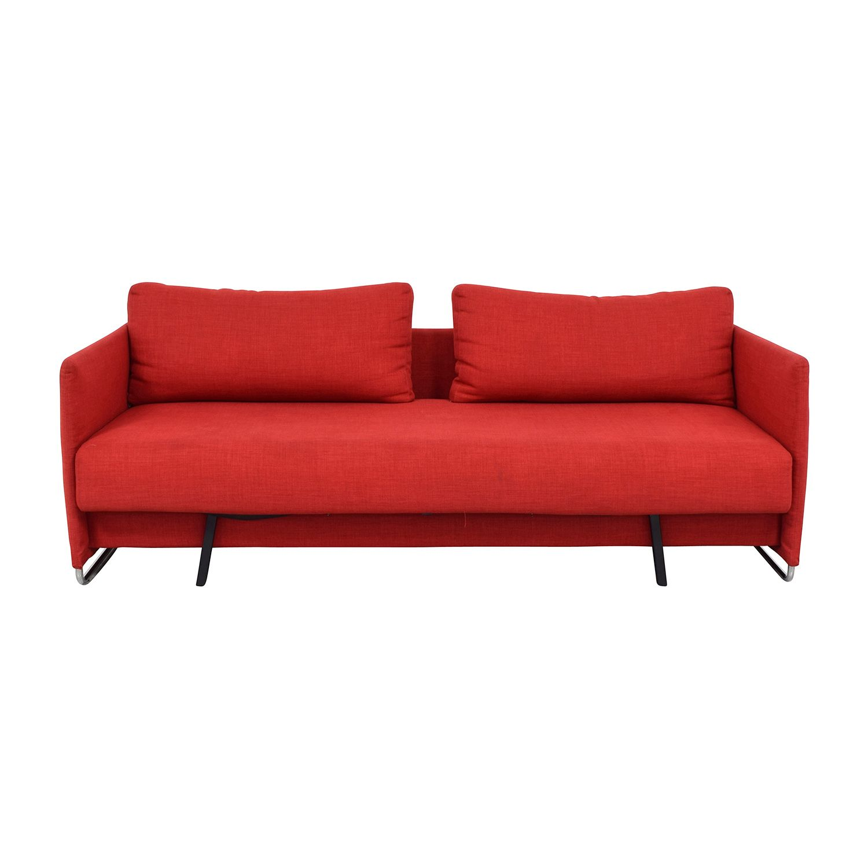 Cb2 Tandom Red Sleeper Sofa Sofa Sleeper Sofa Sofa Furniture