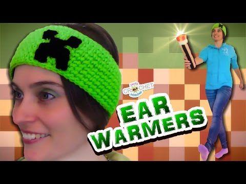 Crochet Creeper Ear Warmers & Headband - Pattern Tutorial - YouTube ...