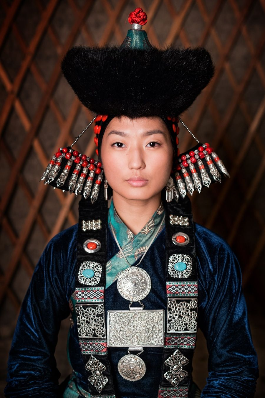 The World In Faces Buryat Young Woman By Alexander Khimushin Report By Jessica Stewart On Febr Indigenous Peoples Traditional Outfits Traditional Dresses