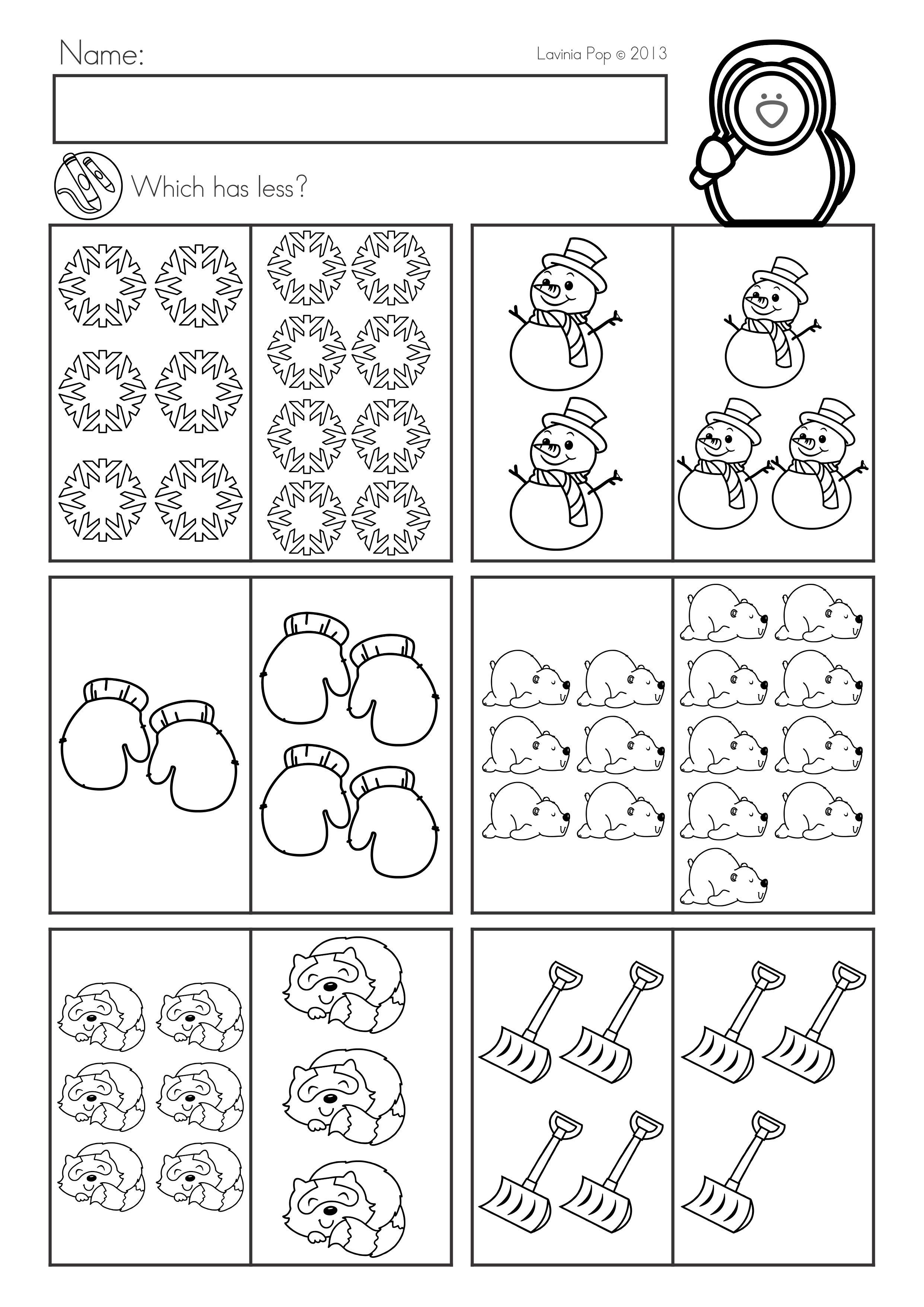 Winter Math Worksheets Activities No Prep Winter Math Worksheets Common Core Math Kindergarten Kindergarten Math Worksheets [ 3508 x 2482 Pixel ]
