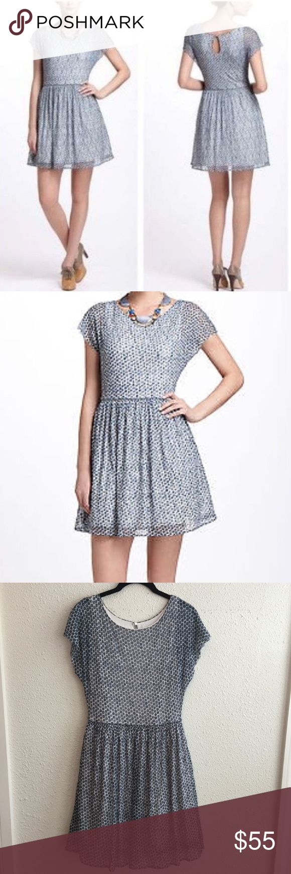 e17eb171cd0e1 Anthropologie Weston Wear Polka Dot Sheer Dress Anthropologie Weston Wear  Polka Dot Sheer Dress. Size Small. In great condition. Blue grey ish color.