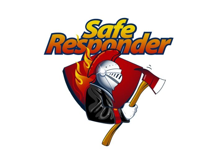 safe responder rescue logo emergency unit to help put fires out