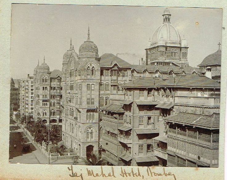 Taj Mahal Hotel In Bombay 1909 With Images Bombay Indian
