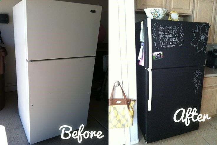 Awesome Kitchen Remodel DIY Make Your Own Chalkboard Refrigerator i