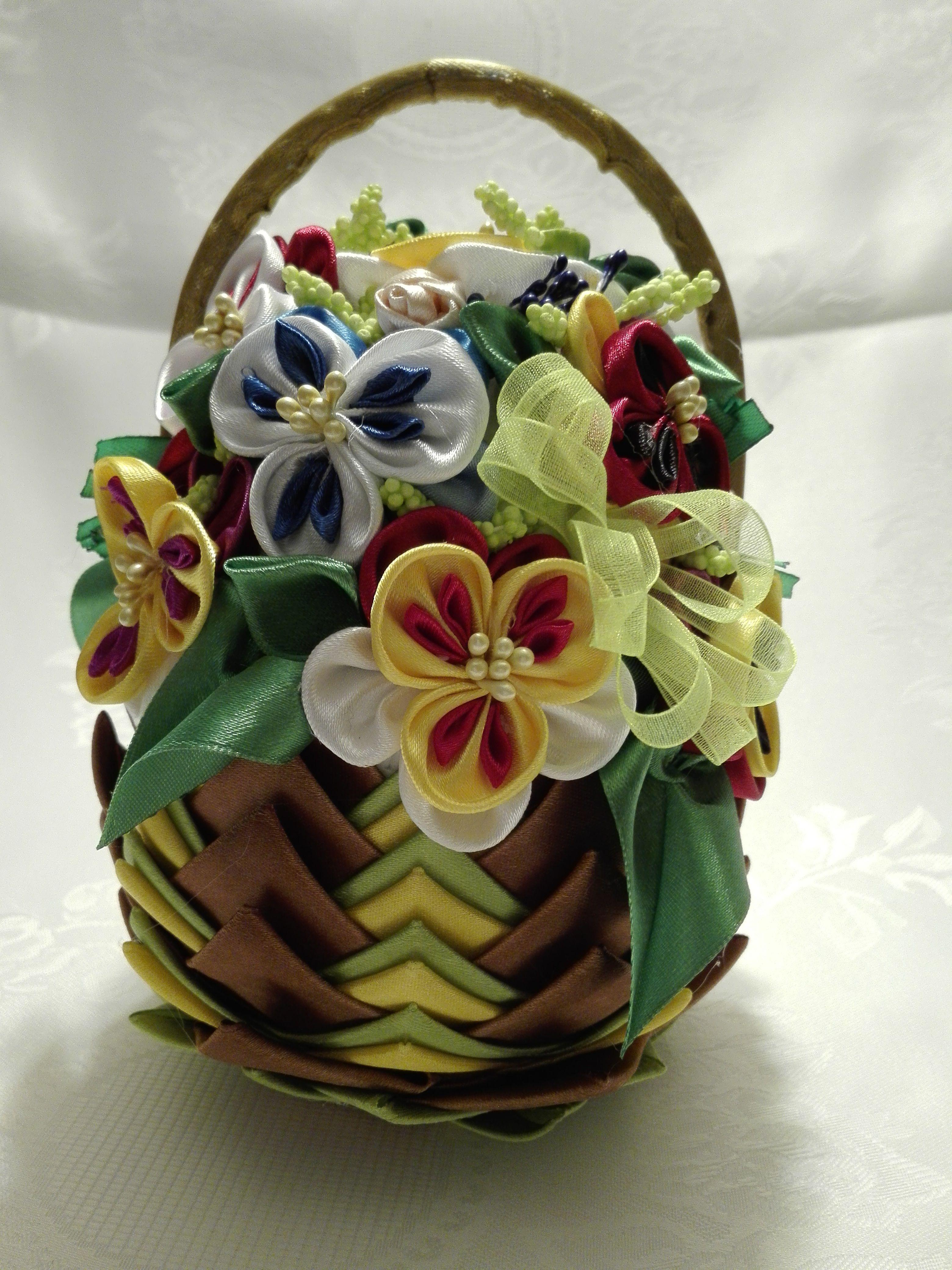 Jajko Koszyczek Quilted Ornaments Fabric Flowers Cloth Flowers