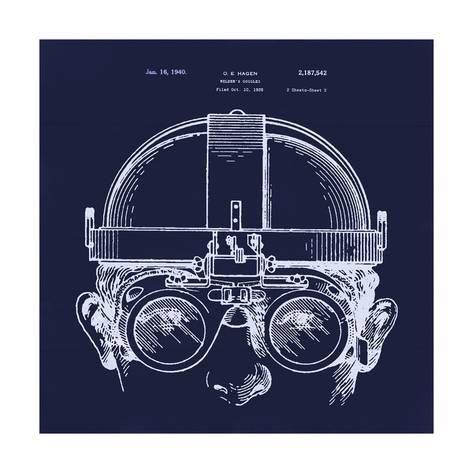 Official Welder Goggles US Patent Art Print Vintage Steampunk Welding Mask 411